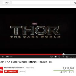 """""""Thor : The Dark World"""" Official Trailer HD Released on You Tube."""