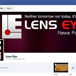 Three Hundred + likes for Lens Eye  Official Facebook Page.
