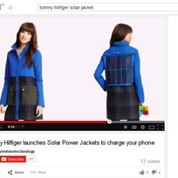 Tommy Hilfiger launches Solar Power Jackets to charge your phone