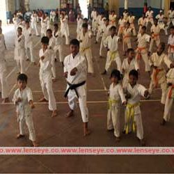 Weapon Training in Karate Summer Camp.