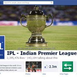 Two Million + likes for IPL Facebook Page.