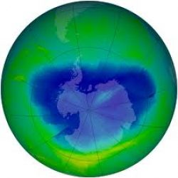 Current Antarctic ozone hole 9th largest on record