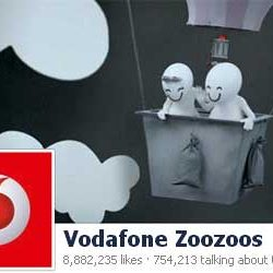Eight Million + likes for Vodafone Zoozoos Official Facebook Page.