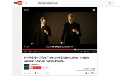Official Trailer 2 of SHAMITABH released.