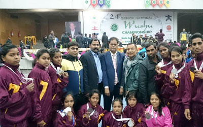 The Jharkhand Wushu players won 5 silver and 8 Bronze Medals in 24th Senior National Wushu Championship, Chandigarh.