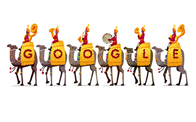 Google celebrates India's 67th Republic Day with a Doodle