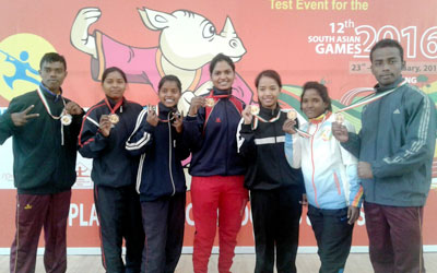 Jharkhand State Wushu players won 1 Gold , 1 Silver and 4 Bronze medals in Federation Cup Wushu championship at Shillong.