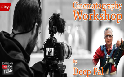Cinematography Workshop from 8th of April 2016 in Mumbai.