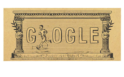 Google celebrated 120th anniversary of first modern olympic games by a Doodle