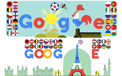 Google marks the start of UEFA Euro 2016 with a animated Doodle