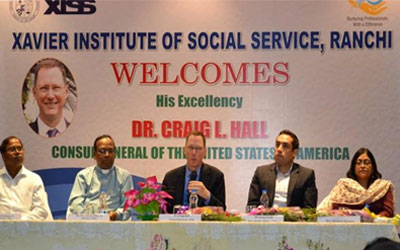 Dr. Craig Hall [ The Consul General ofUSA ] addressed the students of XISS