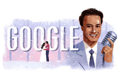 Google celebrates Mukesh [ Indian playback singer ] 93rd birthday with a Doodle