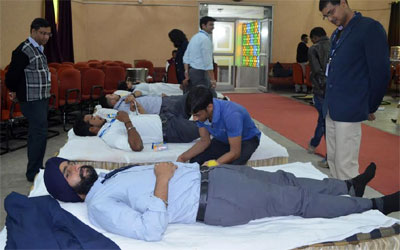 XISS Initiative :: Blood donation camp on World AIDS Day