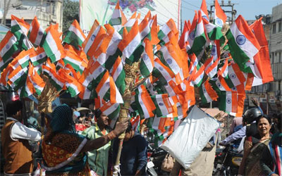 Tricolors on the eve of the Republic Day