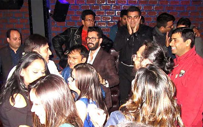 Reunion party of the year 1999 batch mates of Green Fields Public School, Dilshad Garden was organised at Kafenomics, Ram Vihar Delhi on 4th Feb 2017. Batch mates Sandeep Jandu, Yashu Verma, Gaurav Kochhar and Monika arranged the venue and organised other things very well. There were near about sixty participants enrolled. The event starts with snacks and later Jam Session followed by Dinner. All the participants were meeting together after seventeen years and after seeing each other their memories refreshed after remembering their school life. Cake cutting was also there and at the end small gifts were given to all with the name of that day celebration. Clicking pictures that were going nonstop taking a selfies and shutterbugs Gaurav and Arpit along with his team captured some of the amazing moments. The event was celebrated with great zeal.