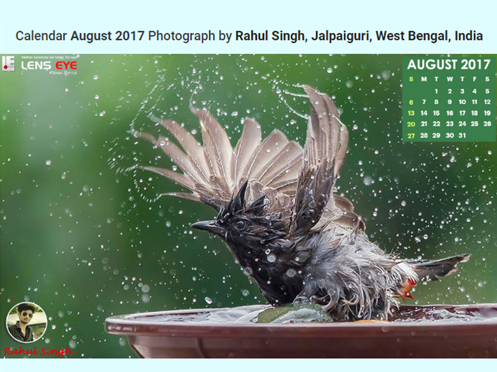 Lens Eye's  e- Calender : August - 2017 :: Rahul Singh  [ Jalpaiguri, West Bengal, India ]
