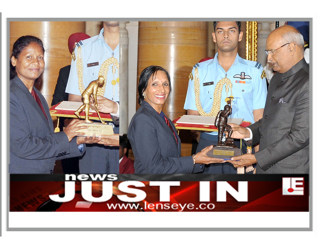 News Just In :: President Ram Nath Kovind presents Dhyan Chand Award to Hockey player Asunta Lakra