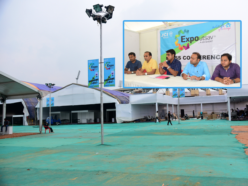 All set for grand opening of 22nd Edition of the JCI Ranchi's Expo Utsav 2017
