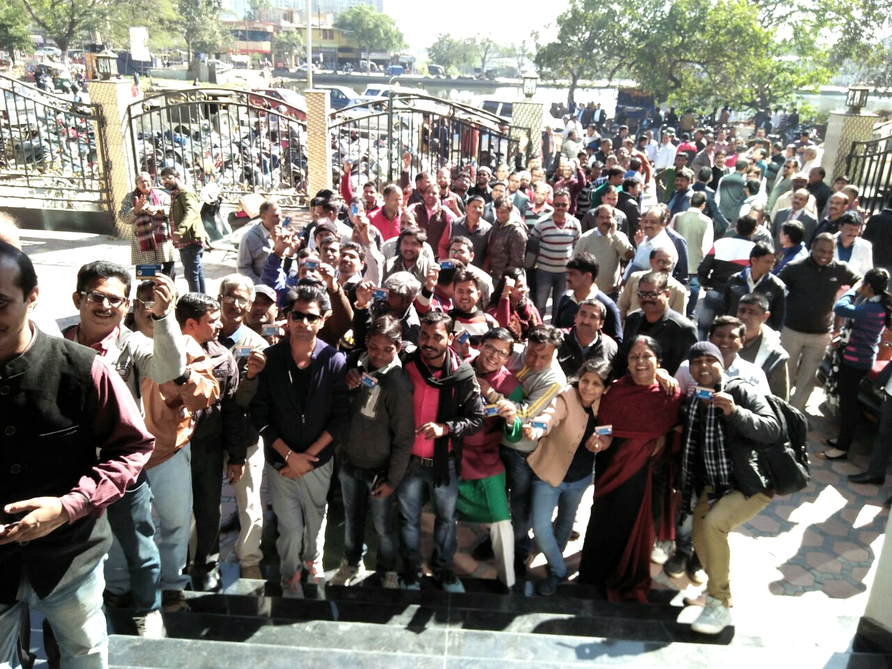 Journalists casted vote in first Election of The Ranchi Press Club.