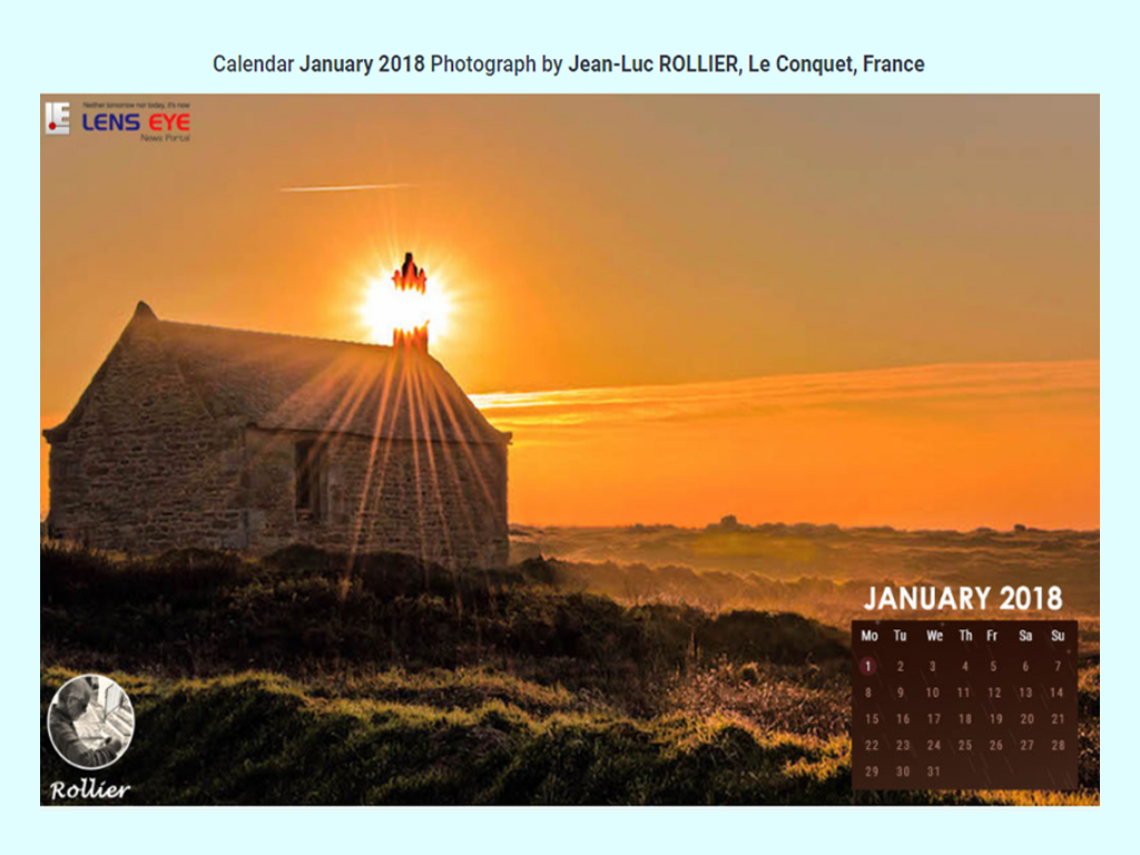Lens Eye's  e- Calender : January - 2018 :: Jean-Luc ROLLIER [ Le Conquet, France ]